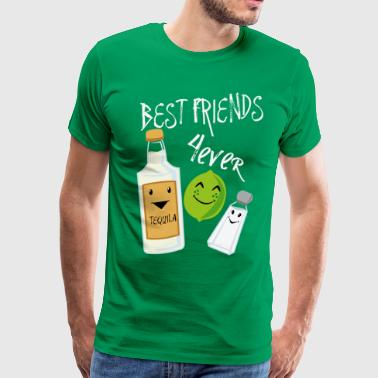 Best Friends Forever Tequila Lime Salt Humor - Men's Premium T-Shirt