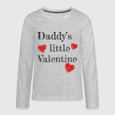Valentine's Day Daddy's Little Valentine - Kids' Premium Long Sleeve T-Shirt