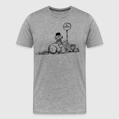 Thelwell No Waiting Lazy Pony - Men's Premium T-Shirt