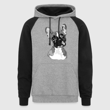 French Bulldog - Men's - Colorblock Hoodie