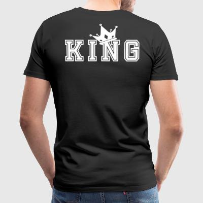 Valentine's Day Matching Couples King Crown - Men's Premium T-Shirt