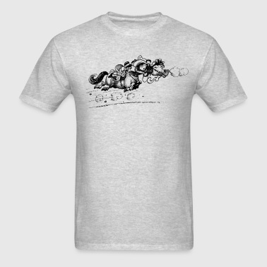 Thelwell Bolting Horse And Cowboy - Men's T-Shirt