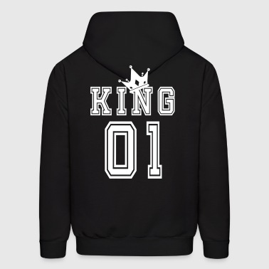 Valentine's Day Matching Couples King Jersey - Men's Hoodie