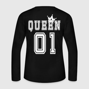 Valentine's Matching Couples Queen Jersey - Women's Long Sleeve Jersey T-Shirt