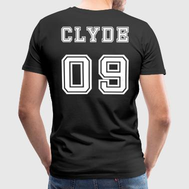 Valentine's Day Matching Couples Clyde Number - Men's Premium T-Shirt