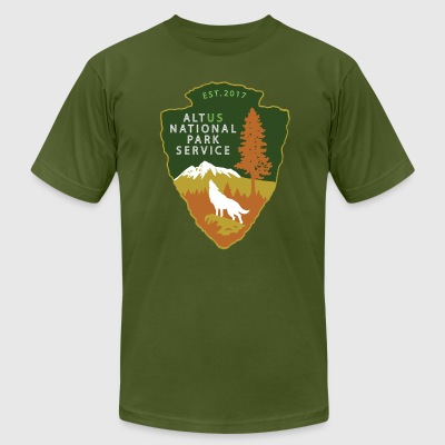Alt US National Park Service - Men's T-Shirt by American Apparel