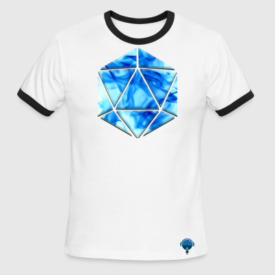 DnD - D20 Flame - Men's Ringer T-Shirt