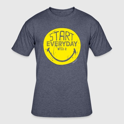 SmileyWorld Quotes Start Every Day With A Smile - Men's 50/50 T-Shirt
