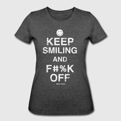 SmileyWorld Keep Smiling And F**k Off - Women's 50/50 T-Shirt