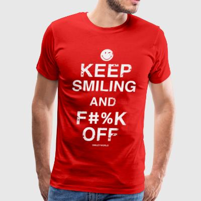 SmileyWorld Keep Smiling And F**k Off - Men's Premium T-Shirt