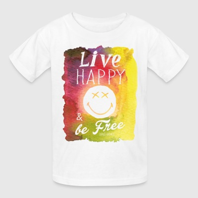SmileyWorld Live Happy And Be Free - Kids' T-Shirt