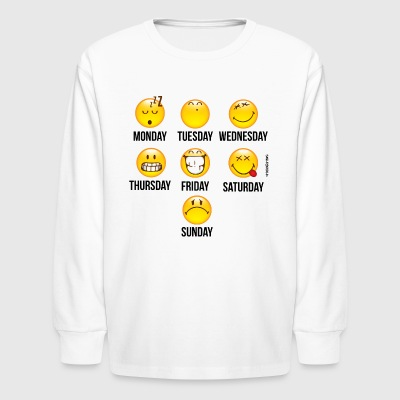 SmileyWorld Weekly Overview - Kids' Long Sleeve T-Shirt
