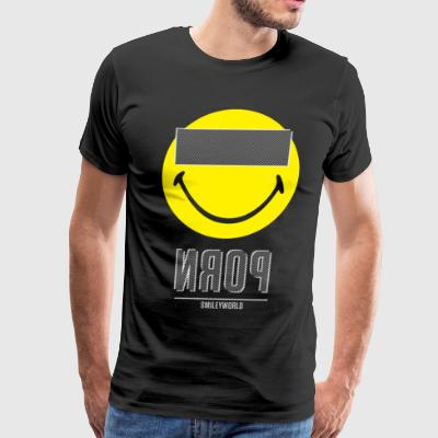 SmileyWorld P*rn Censor Bar - Men's Premium T-Shirt