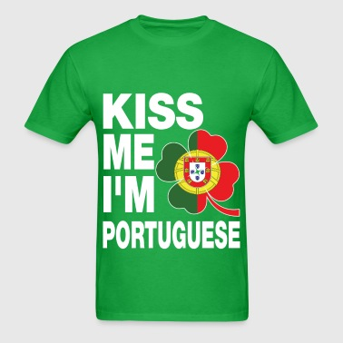 Kiss me I'm Portuguese - Men's T-Shirt