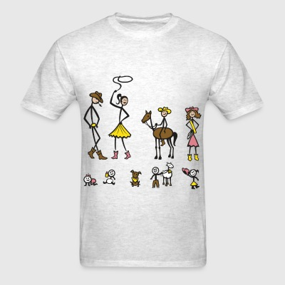Cowpoke Stick Family - Men's T-Shirt