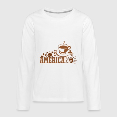 Americano Coffee Vector - Kids' Premium Long Sleeve T-Shirt