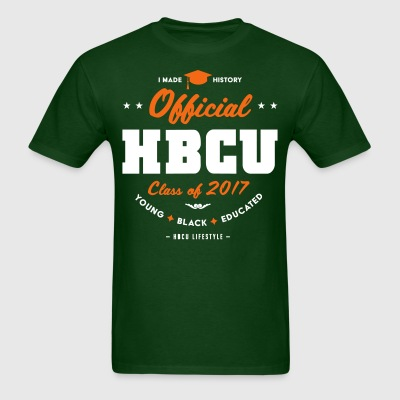 Official HBCU Class of 2017- Men's White, Orange a - Men's T-Shirt