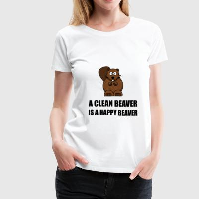 Clean Beaver Happy Beaver - Women's Premium T-Shirt