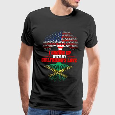 American Grown Up With My Jamaican Girlfriends T-Shirts - Men's Premium T-Shirt