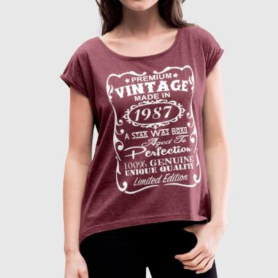 30th Birthday Gift Ideas for Women - Women's Roll Cuff T-Shirt