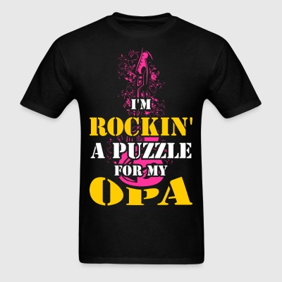 I'm Rockin  A Puzzle for My Opa - Men's T-Shirt