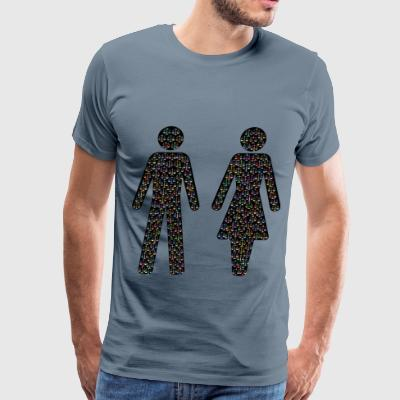 Prismatic Gender Equality Male And Female Figures - Men's Premium T-Shirt
