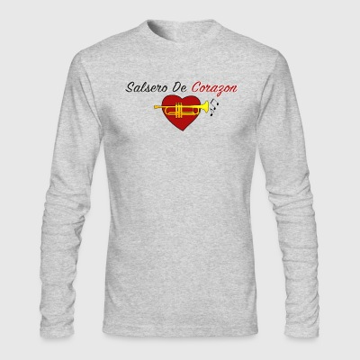 Salsero De Corazon - Men's Long Sleeve T-Shirt by Next Level