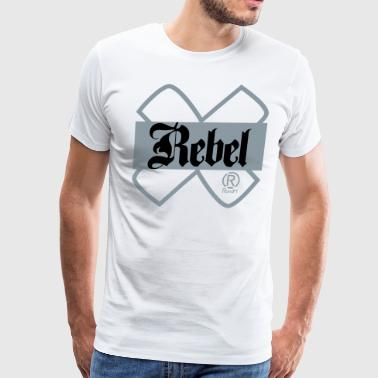 RandM Metallic Silver Rebel - White - Men's Premium T-Shirt
