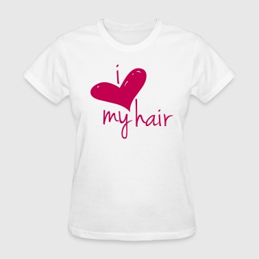 I Love My Hair Length Check T-Shirt - Women's T-Shirt