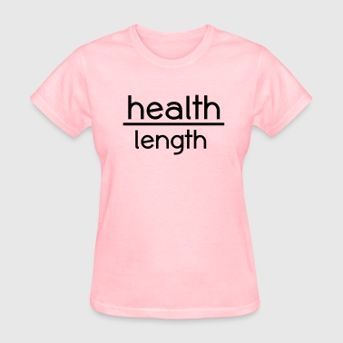 Health Before Length Length Check T-Shirt - Women's T-Shirt