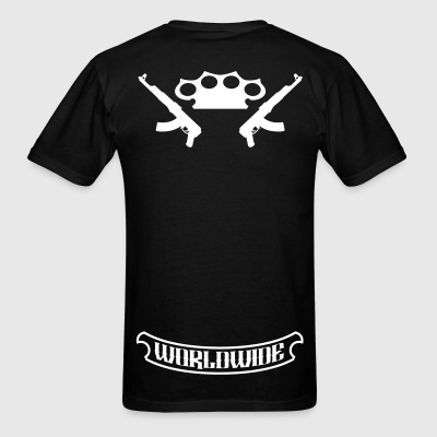 Worldwide Brass Knuckles and Guns - Men's T-Shirt