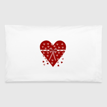 Hearts, stripes and bow - Pillowcase