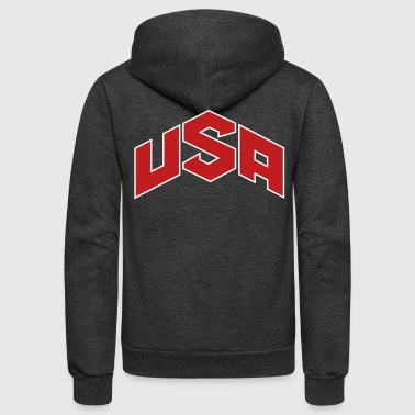 USA Olympics Hoodies - Unisex Fleece Zip Hoodie by American Apparel