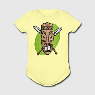 Surly Tiki Mask - Short Sleeve Baby Bodysuit