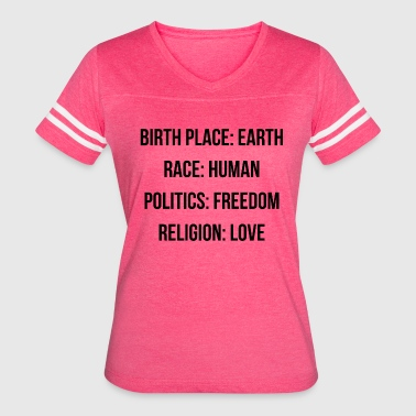 BIRTH PLACE: EARTH - Women's Vintage Sport T-Shirt