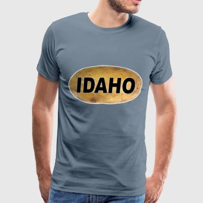 Idaho Potato Oval Sticker - Men's Premium T-Shirt