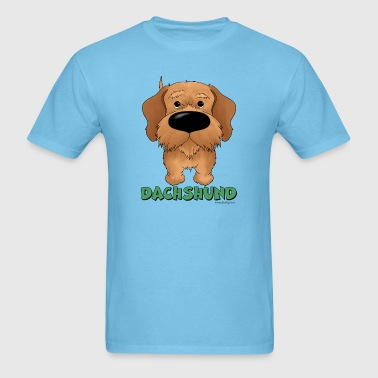 Big Nose Wire Haired Dachshund - Men's T-Shirt