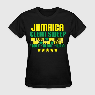 JAMAICA CLEAN SWEEP OLYMPIC TEE(WOMENS BLACK) - Women's T-Shirt