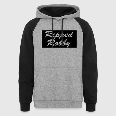 Ripped Robby Sweat Shirt! - Colorblock Hoodie