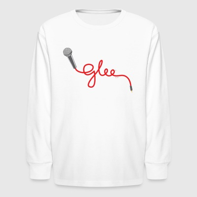 Glee Typography Microphone Lettering - Kids' Long Sleeve T-Shirt