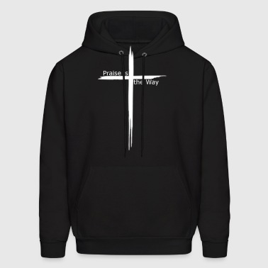praise is the way cross - Men's Hoodie