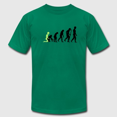 Alien - Human Evolution T-Shirts - Men's T-Shirt by American Apparel