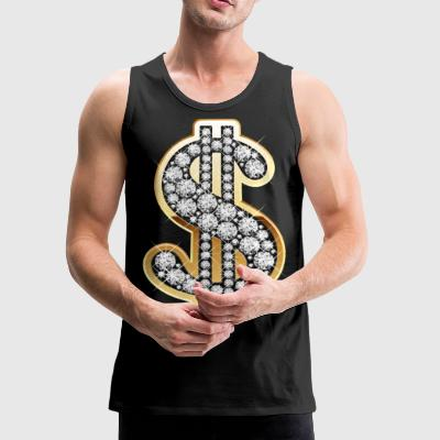 Diamond Money Symbol - Men's Premium Tank