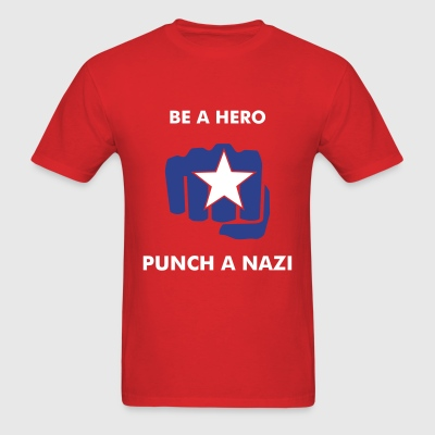 Be a Hero, Punch a Nazi - Men's T-Shirt