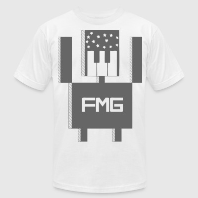 Mens FMG Wire Bot Grey - Men's T-Shirt by American Apparel