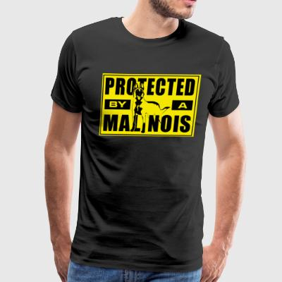 Protected by a Malinois - Men's Premium T-Shirt