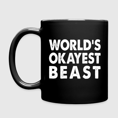World's Okayest Beast Large Mammal Mugs & Drinkware - Full Color Mug