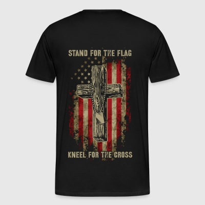 Shop Stand For The Flag Kneel For The Cross T Shirts
