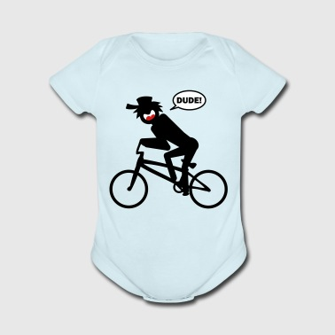 BMX Stickman Baby One piece 1a - Short Sleeve Baby Bodysuit