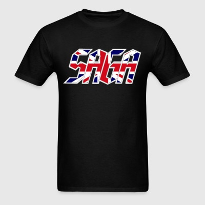 Saga UK Logo tour shirt 2017 - Men's T-Shirt